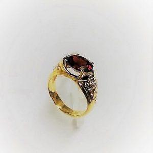 з041011-62 кольцо гранат